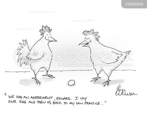 laying eggs cartoon