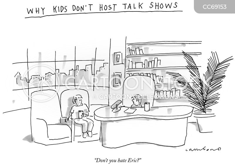 talk show host cartoon