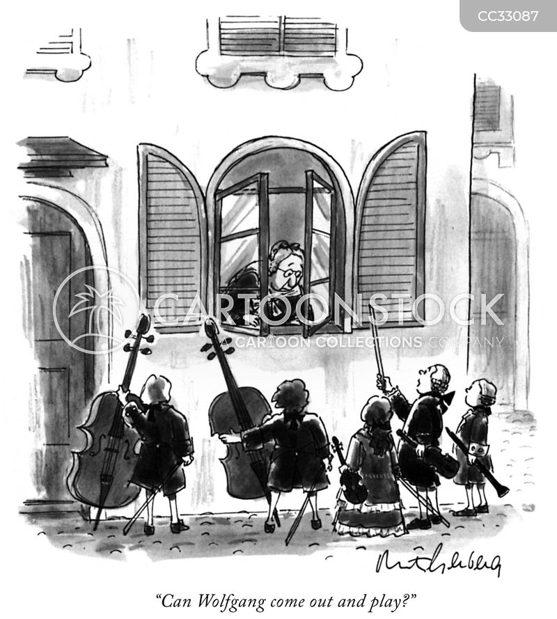 Violins cartoon