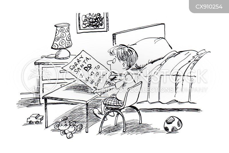 home-schooling cartoon