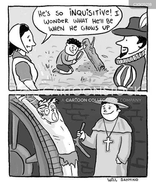 inquisitive cartoon
