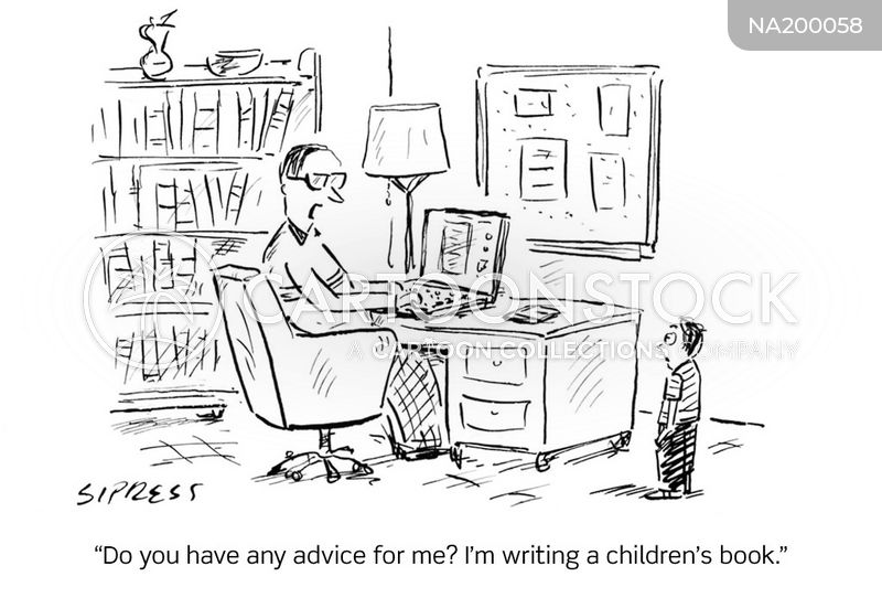 writing tips cartoon