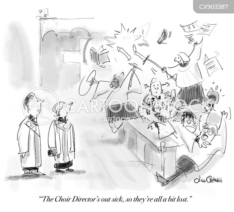 choir director cartoon