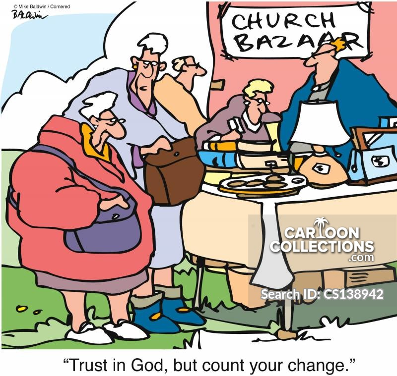 trust in god cartoon