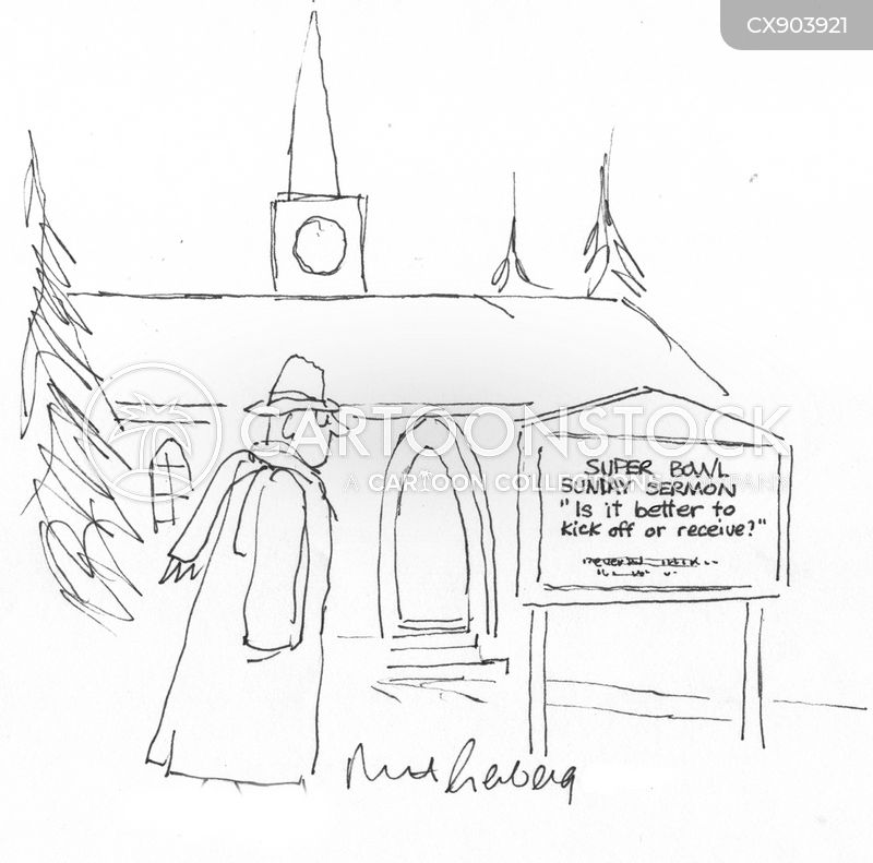sunday service cartoon