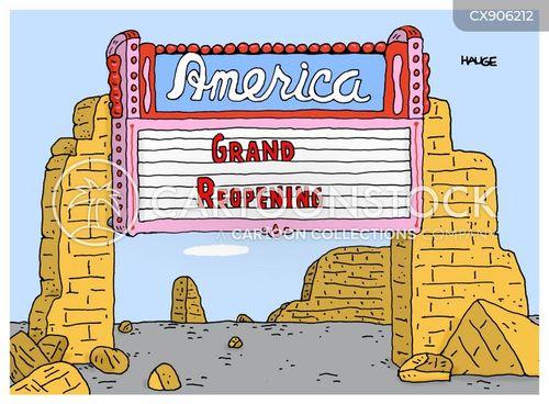 reopening cartoon