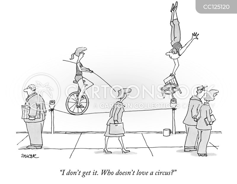 Circus Performance cartoon