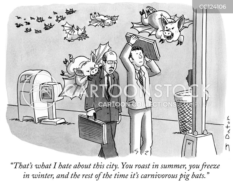 urban living cartoon