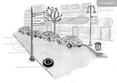 parking sign cartoon