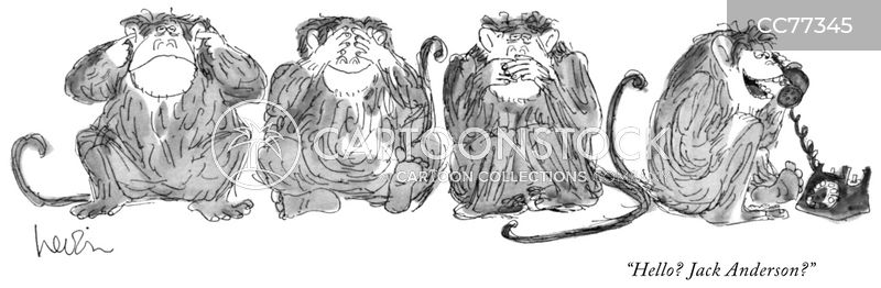 three wise monkeys cartoon