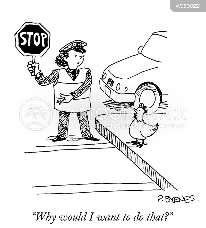 why did the chicken cross the road cartoon