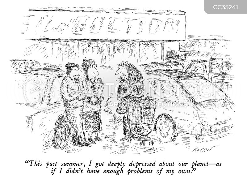pollution cartoon