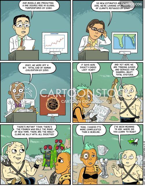 environmental disasters cartoon