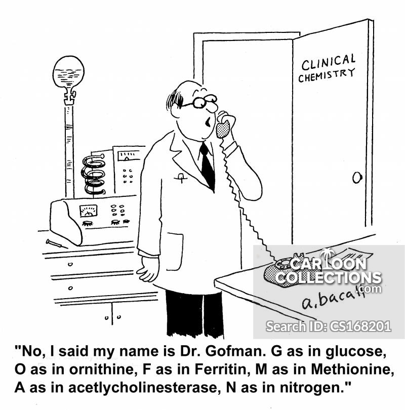Clinical Chemists cartoon