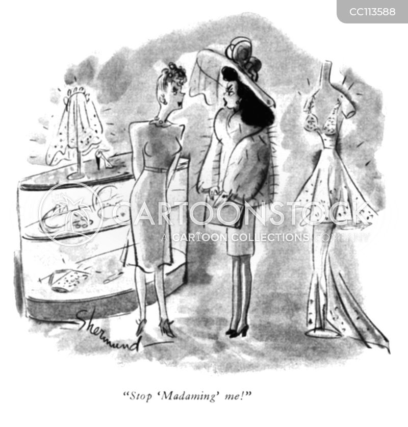 dress shop cartoon