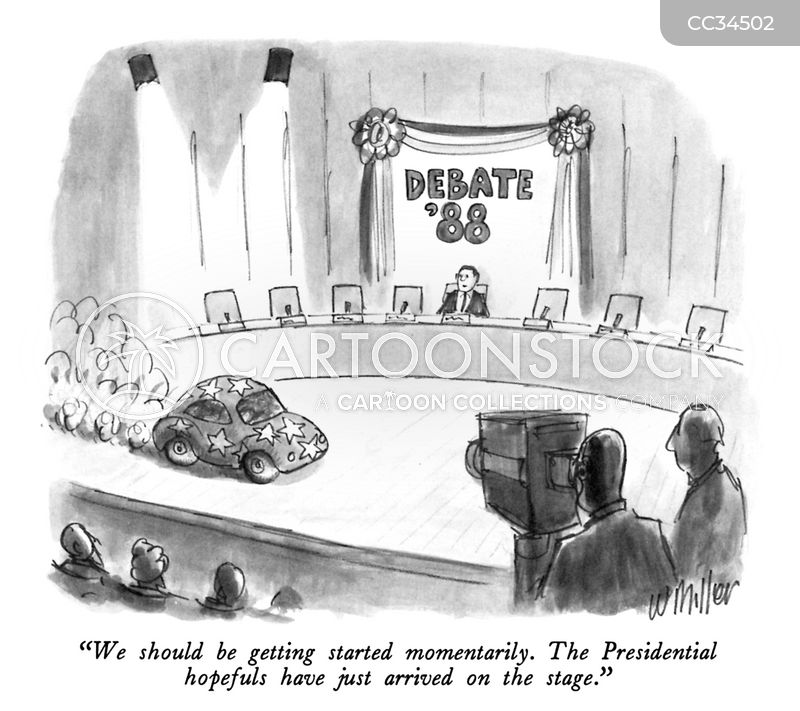 tv debate cartoon