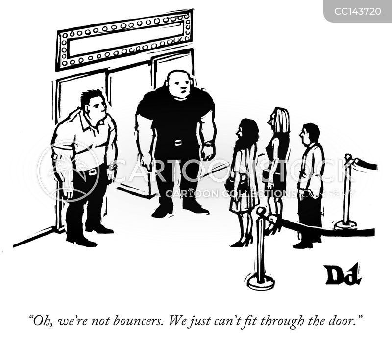 bouncer cartoon