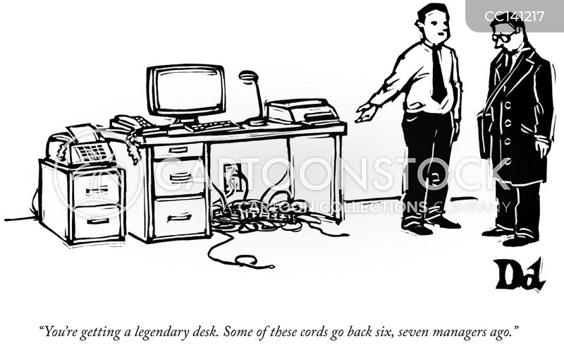 desk jockey cartoon