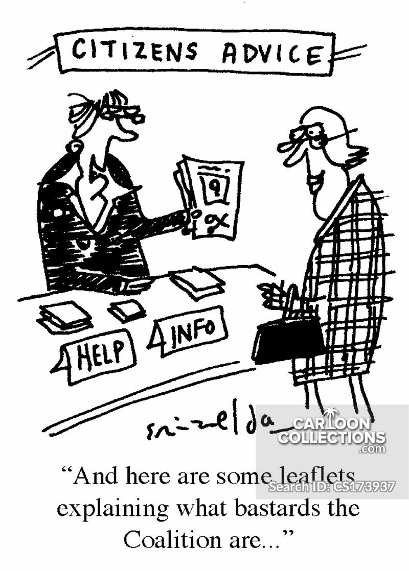 Citizens Advice Bureau cartoon