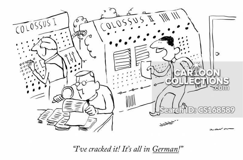 Code Breaking cartoon
