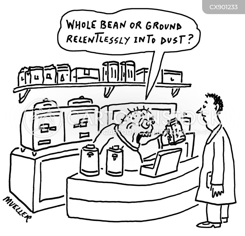coffee beans cartoon