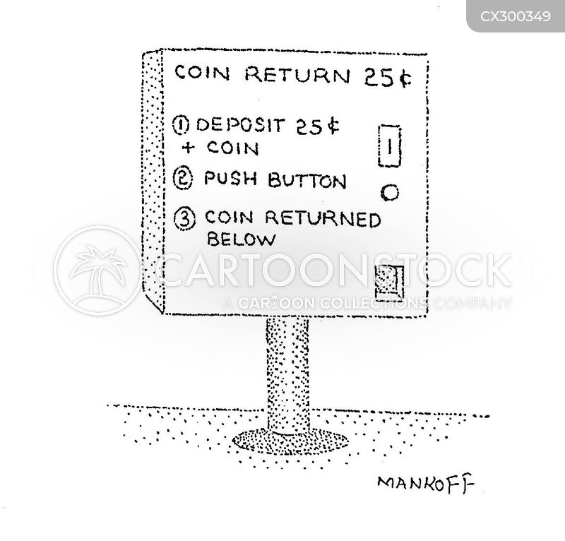 deposit cartoon