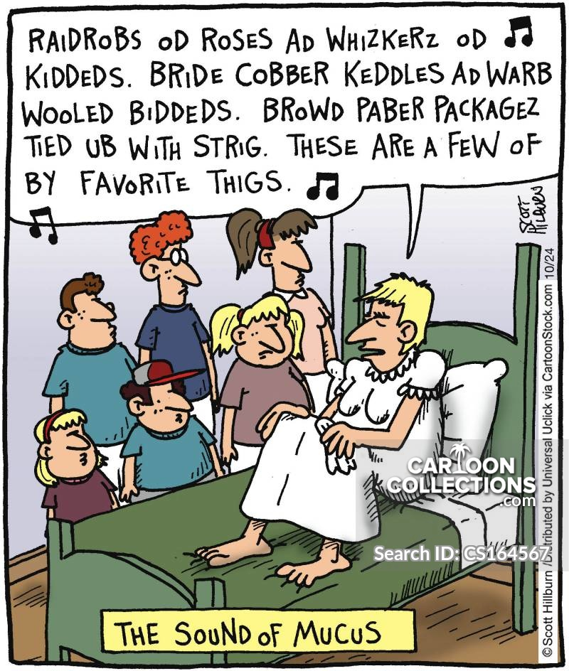 Cold Symptoms cartoon