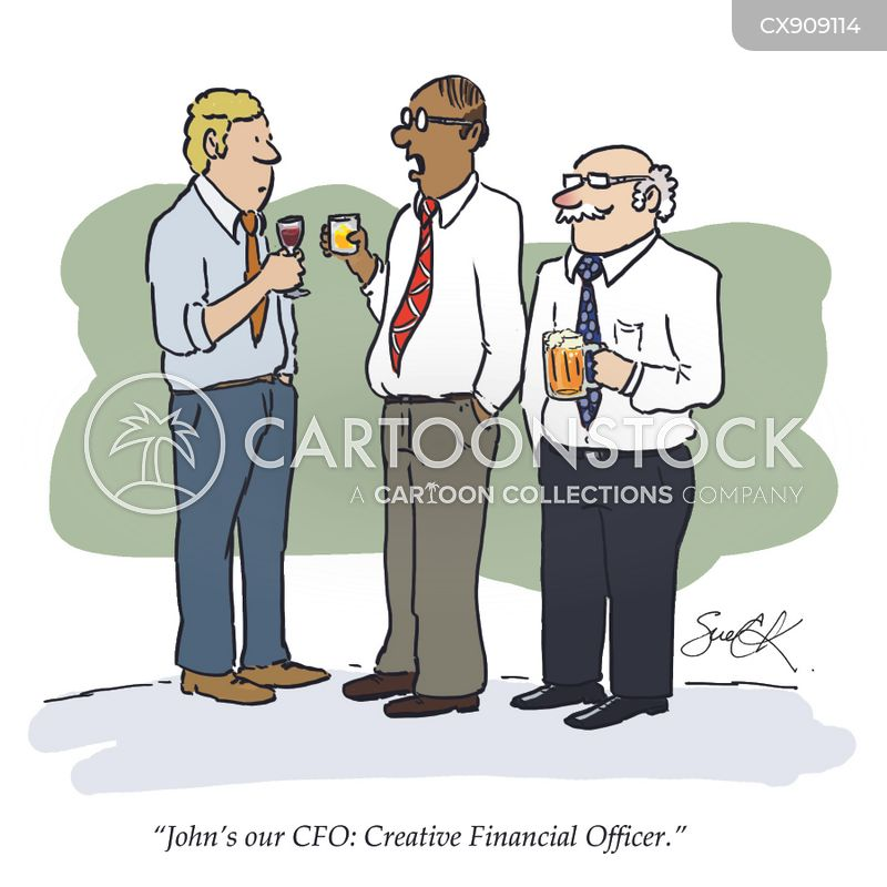 financial officer cartoon