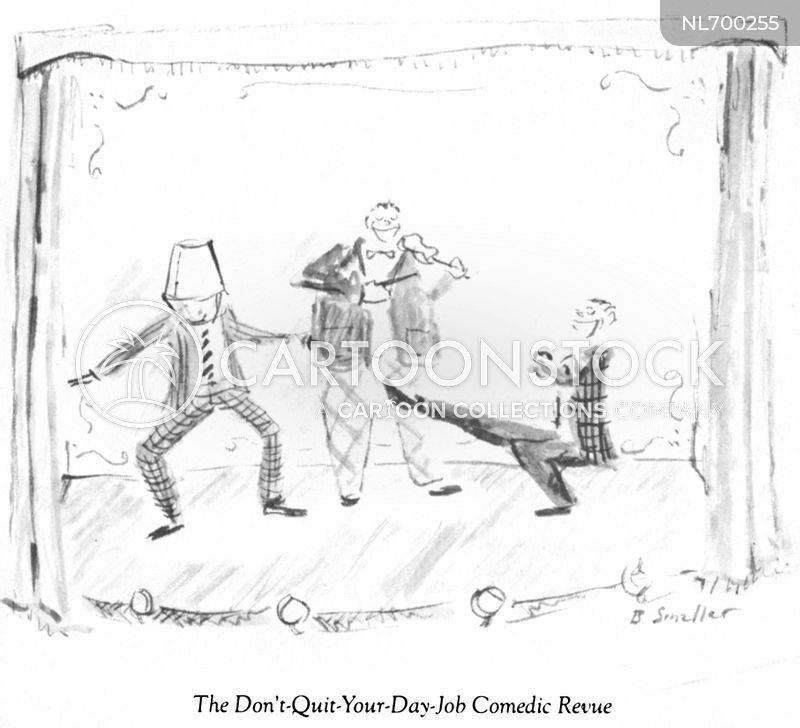 stage acts cartoon