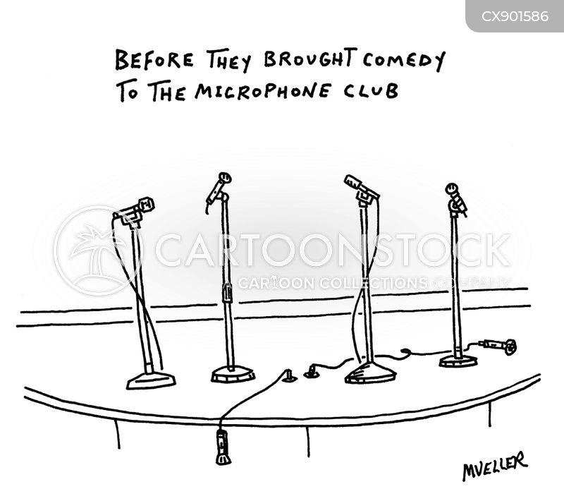 mic cartoon