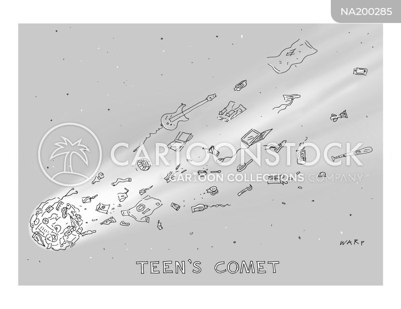 meteors cartoon