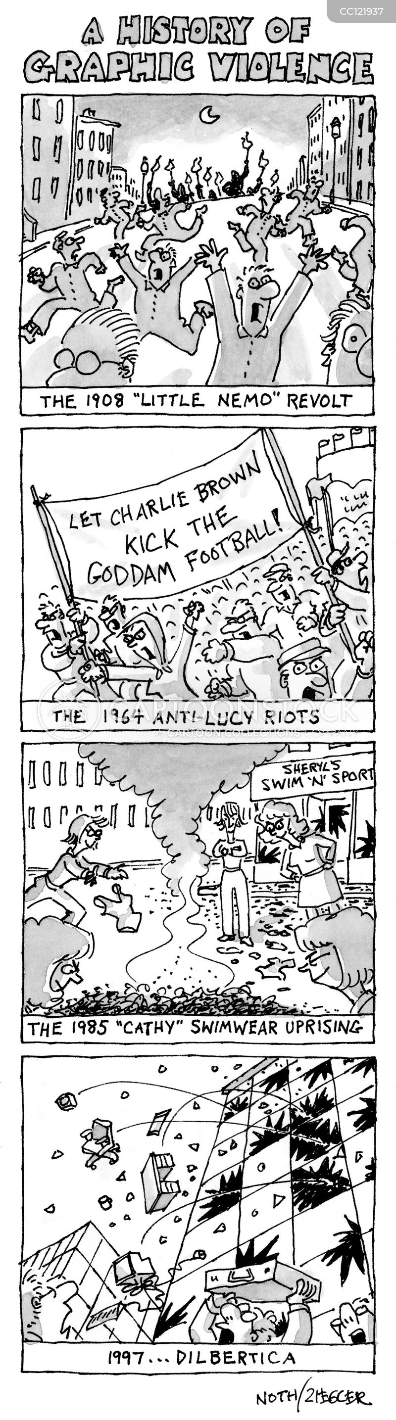 riots cartoon
