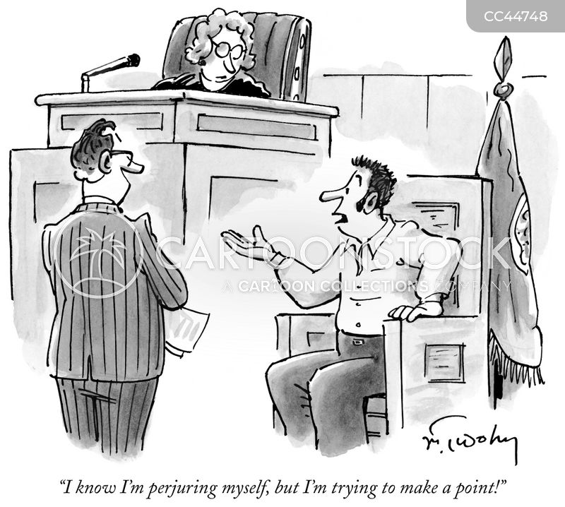 committing perjury cartoon