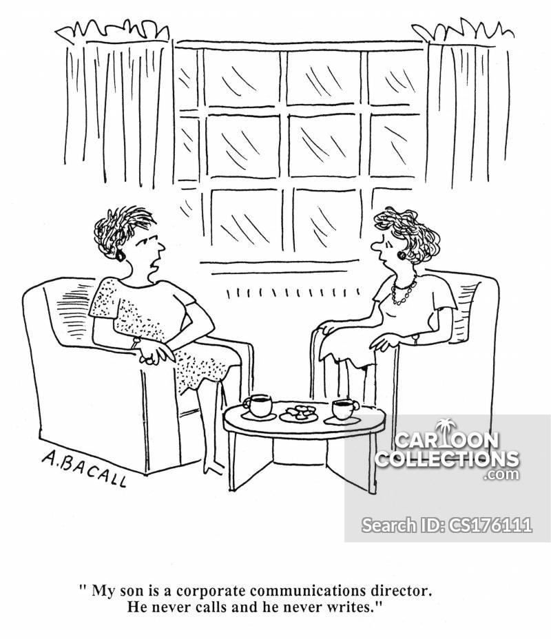 communications directors cartoon