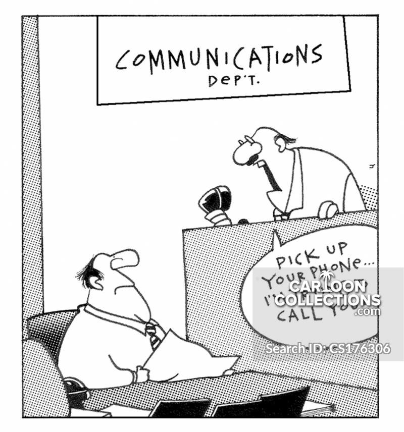 communications departments cartoon