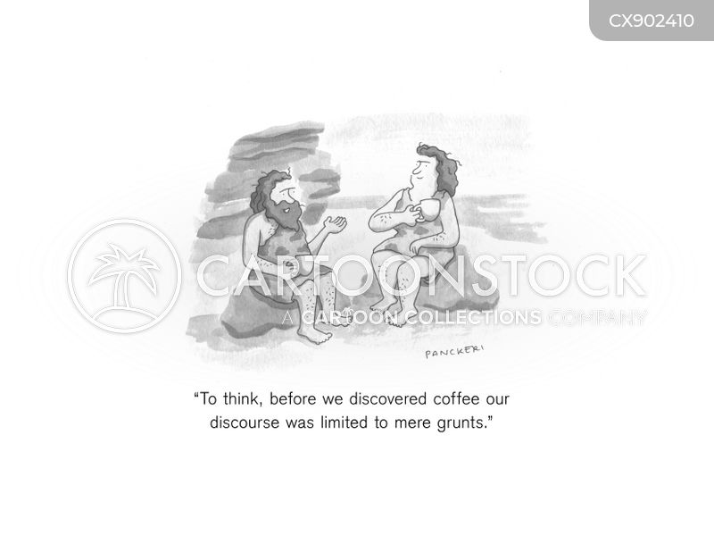 grunting cartoon