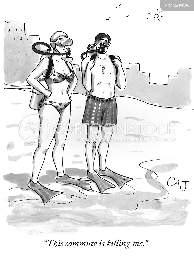 swimmer cartoon