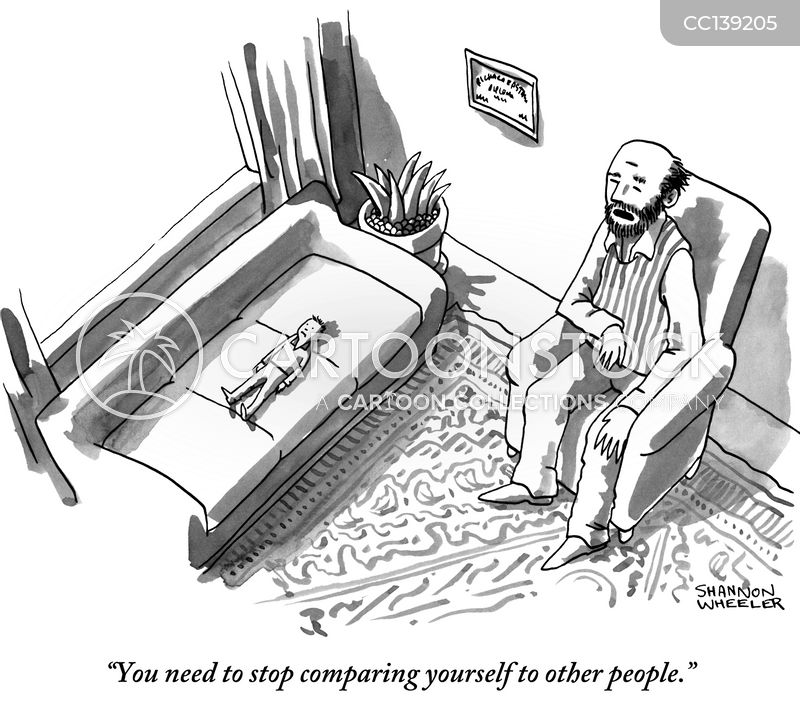 comparing yourself cartoon