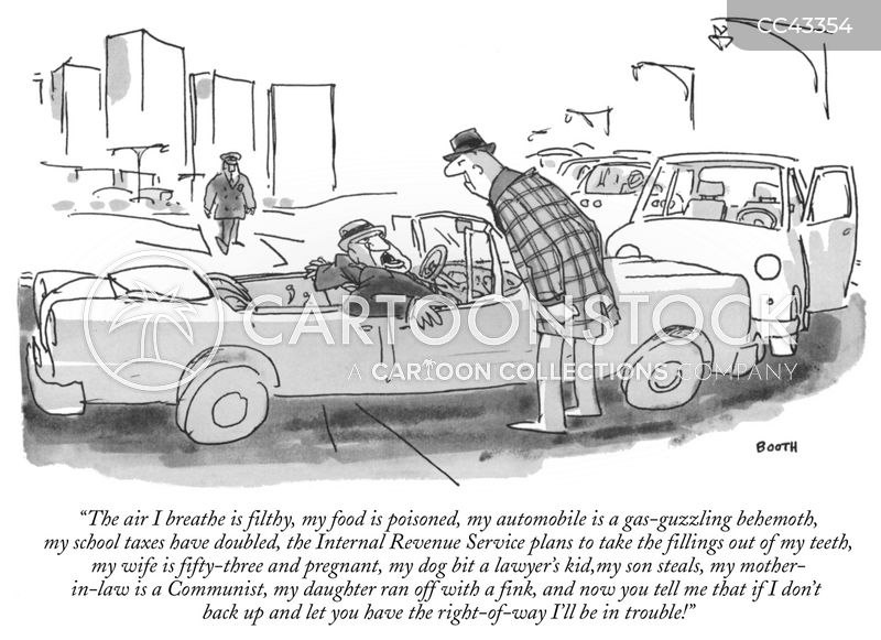 Driving Against Traffic cartoon