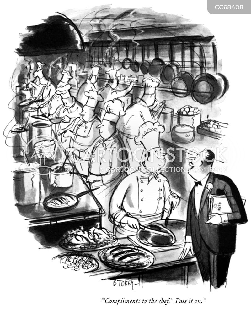 wait staff cartoon