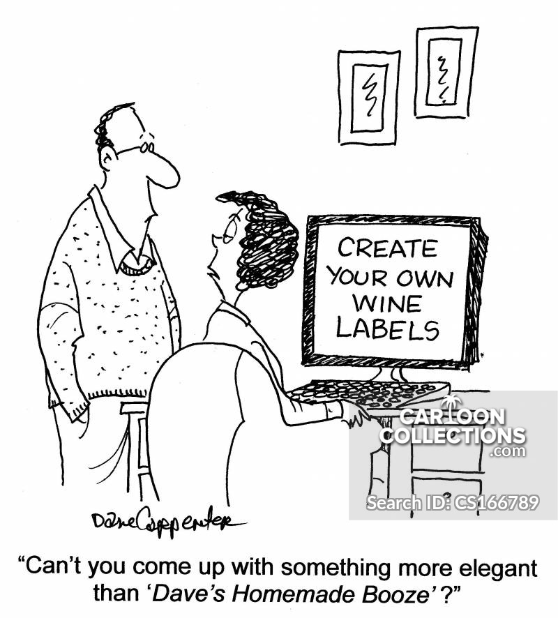 wine markers cartoon