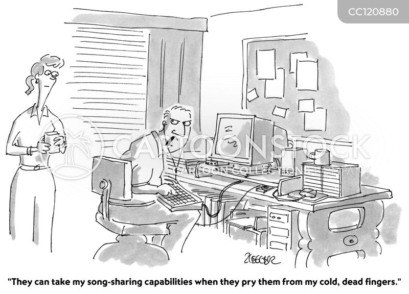file sharing cartoon