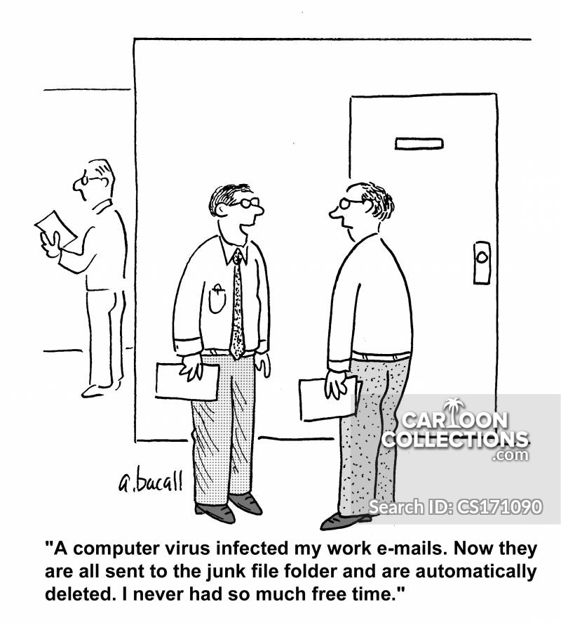 Junk Folder cartoon