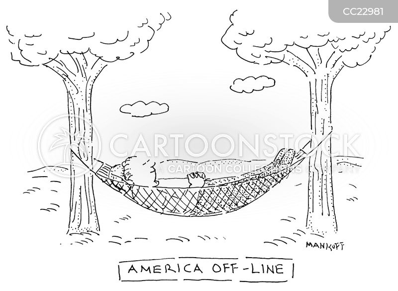 relaxes cartoon