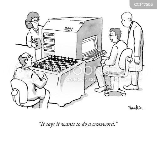 chessboards cartoon