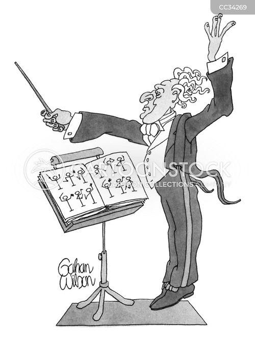 conductor cartoon