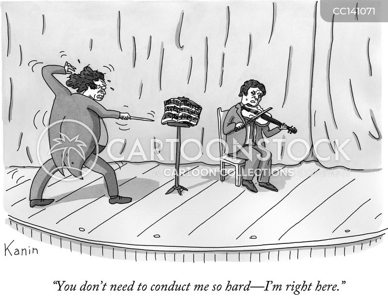 Classical Musician cartoon