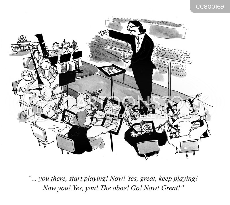 orchestras cartoon