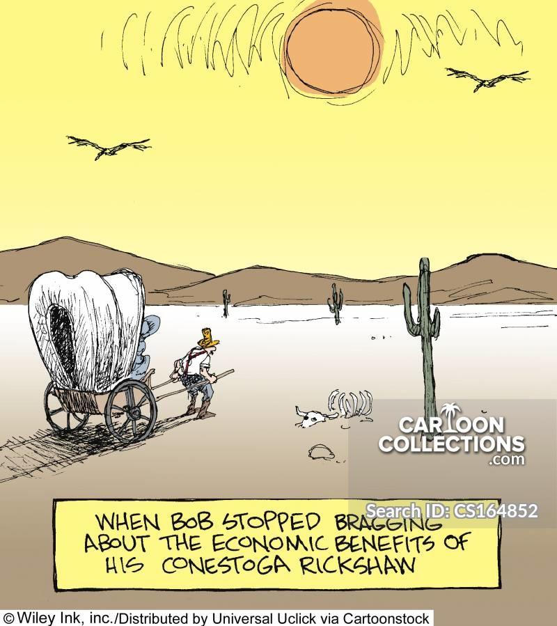 conestoga wagon cartoon