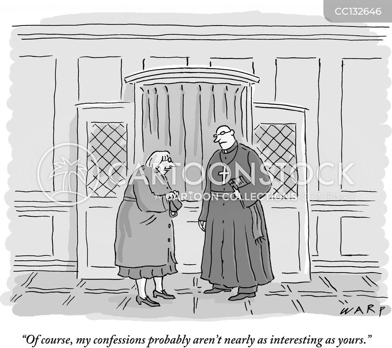 confessing cartoon